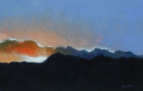 Colorado Sunset - Oil Paintings by artist Melinda Fellini