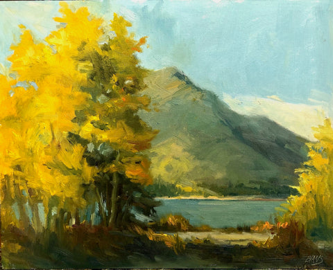 Golden Morning - oil  by artist Amy Evans