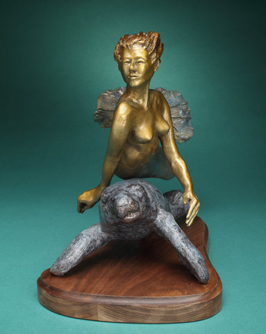Into the Current - Bronze  by artist John Prout