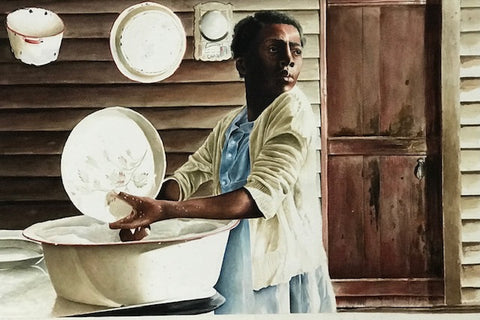 Sharecroppers Series - Sharecropper's Daughter - Watercolor  by artist E. Richard Clark