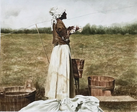 Washerwoman Series - Monday Morning Ritual  - Watercolor  by artist E. Richard Clark