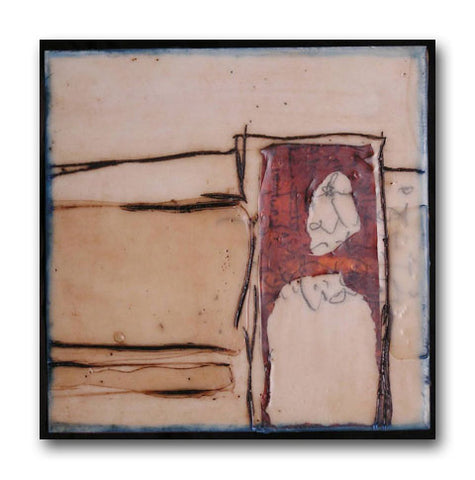 if I knock - Encaustic Paintings by artist Patricia Baldwin Seggebruch