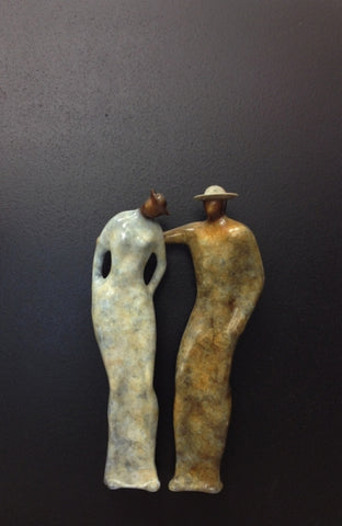 Empathy - Bronze Relief on Aluminum Sculpture by artist Guilloume