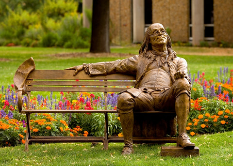 Ben Franklin - Bronze Collage by artist Gary Lee Price