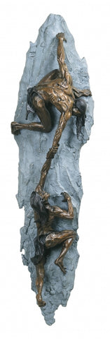 Ascent Wall Hanging - Bronze Sculpture by artist Gary Lee Price
