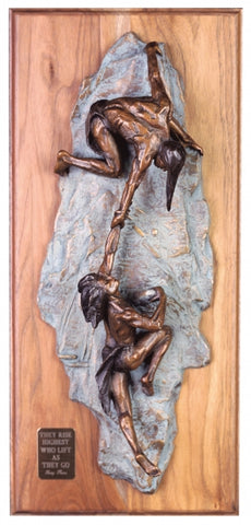 Ascent Wall Plaque - Bronze Sculpture by artist Gary Lee Price