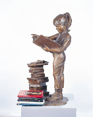 Bookworm II - Bronze Sculpture by artist Gary Lee Price