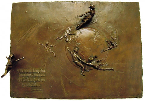 Celebration Relief - Bronze Sculpture by artist Gary Lee Price