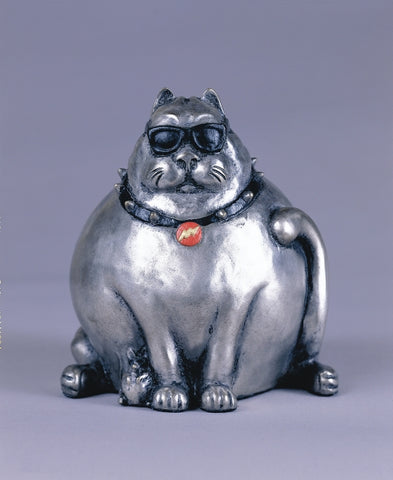 Cool Cat - Bronze Sculpture by artist Gary Lee Price