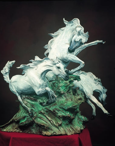 Earth, Wind & Fire - Bronze Sculpture by artist Gary Lee Price