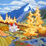 Among the Tamaracks - Acrylic Paintings by artist Carolee Clark