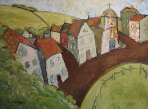 Tea Cosy Town - Oil Paintings by artist Constance Patterson