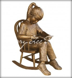 Time Out Girl - Bronze Sculpture by artist Gary Lee Price