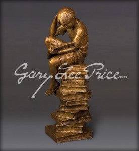New Heights of Knowledge-The Thinker - Bronze Sculpture by artist Gary Lee Price