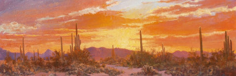 "John Horejs - ""Evening Colors in the Desert"""