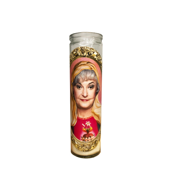 Dorothy Zbornak Prayer Candle // Saint Dorothy// Saint Bea Arthur // Golden Girls Gift - Shop Celebrity novelty prayer candles online - Shrine On