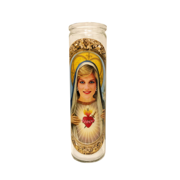 Young Princess Diana Prayer Candle // Princess of Wales Gift // Princess Di Gift // The Crown Gift - Shop Celebrity novelty prayer candles online - Shrine On