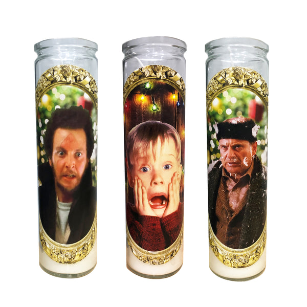 Home Alone Prayer Candle Set // Home Alone Gift Set // Set of Three Candles - Shop Celebrity novelty prayer candles online - Shrine On