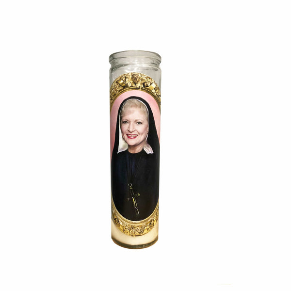 Rose Nylund Prayer Candle // Saint Rose Nylund // Betty White // Golden Girls Gift - Shop Celebrity novelty prayer candles online - Shrine On