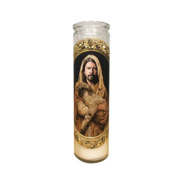 Dave Grohl Prayer Candle // Dave Grohl Gift - Shop Celebrity novelty prayer candles online - Shrine On