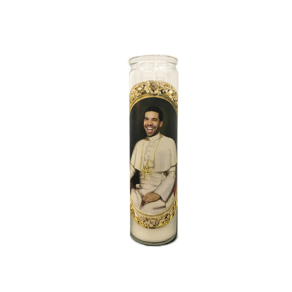 Drake Prayer Candle // Saint Drake // Six God Prayer Candle // Champagne Papi - Shop Celebrity novelty prayer candles online - Shrine On