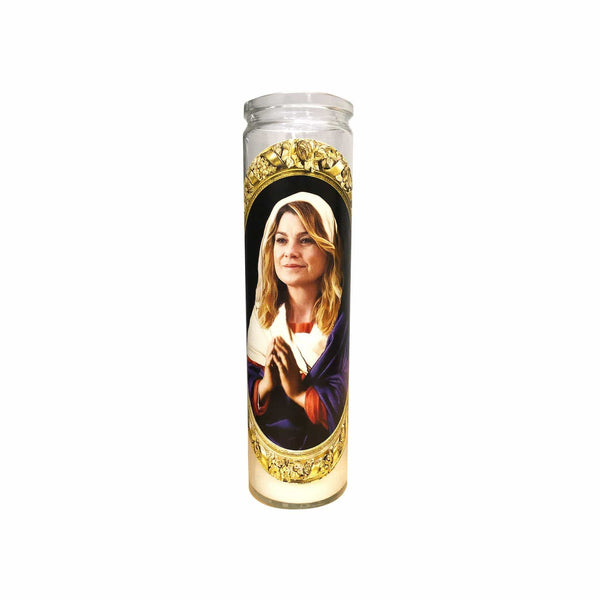 Saint Ellen Pompeo Prayer Candle // Saint Meredith Grey// Grey's Anatomy Gift - Shop Celebrity novelty prayer candles online - Shrine On