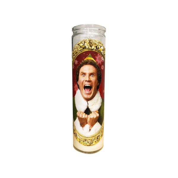 Buddy the Elf Prayer Candle // Elf Gift // Will Ferrell - Shop Celebrity novelty prayer candles online - Shrine On