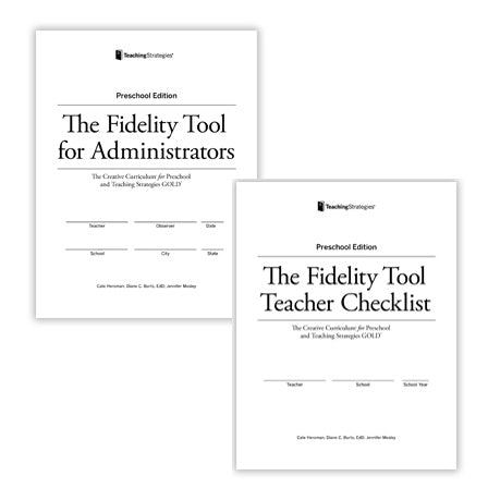 The Fidelity Tool: The Creative Curriculum® for Preschool [Fifth Edition] and Teaching Strategies GOLD® (refill)
