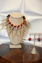 Load image into Gallery viewer, DOUBLE NIU NIFO LOPA NECKLACE & EARRING SET
