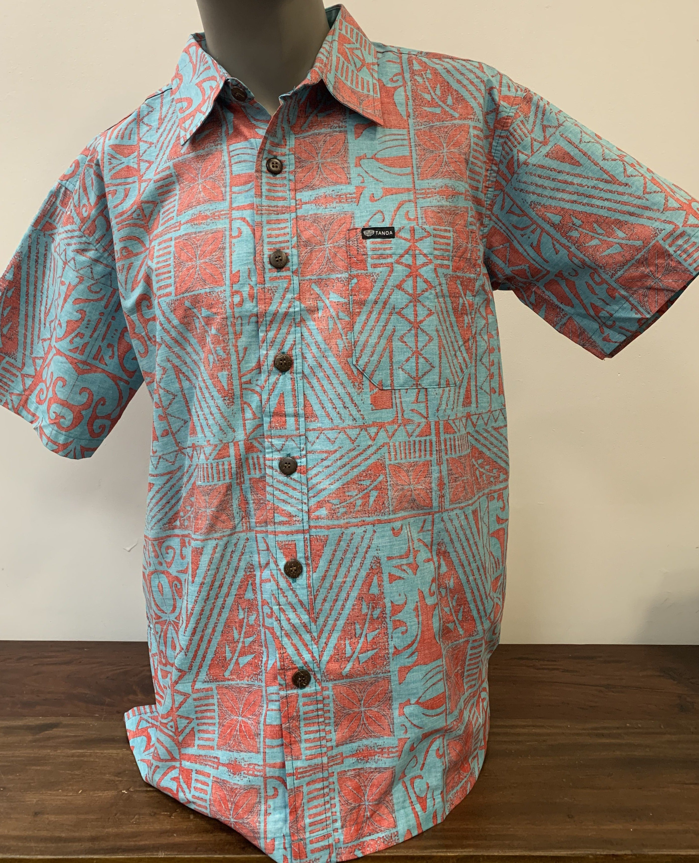 REVERSED COTTON TANOA SHIRT SS2174