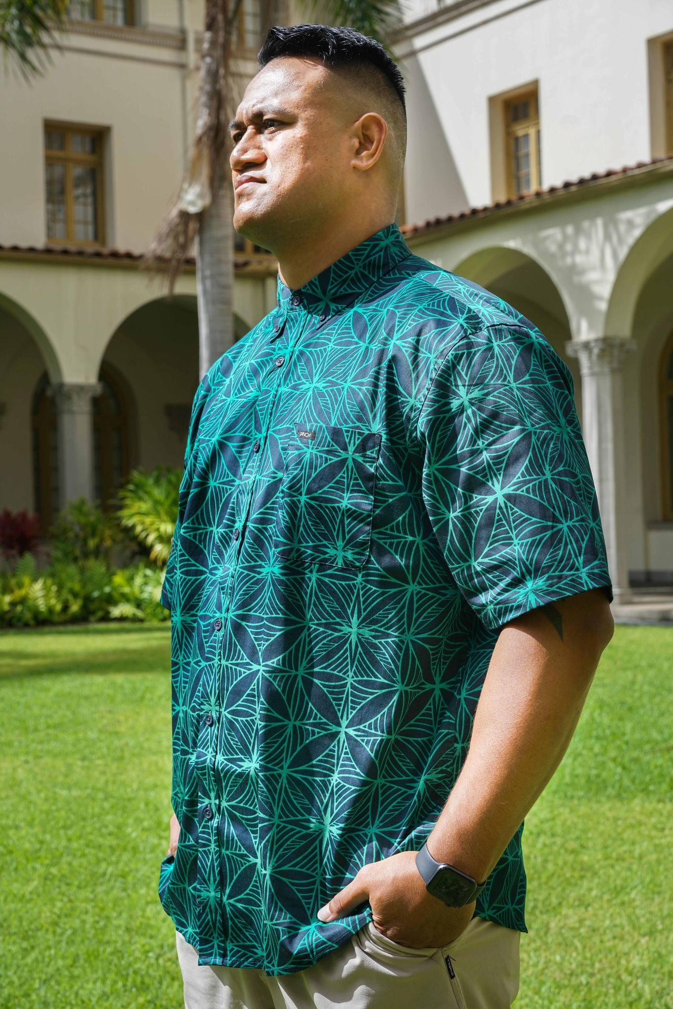 LITEA COTTON STRETCH TANOA SHIRT TSCSS09