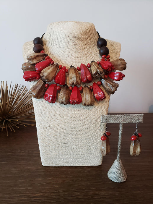 FALA NECKLACE & EARRING SET