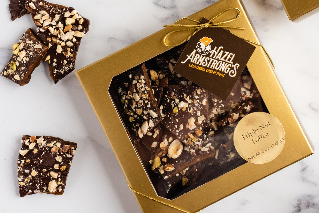 Triple-Nut Toffee Box
