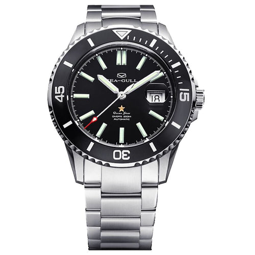 Seagull 416.22.1201 Ocean Star Upgraded Luminescent Ceramic Bezel Automatic 200M WR Men's Diving Diver's Swimming Watch 816.523