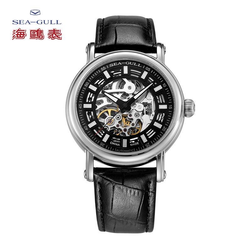 Seagull 3 Hands Skeleton Automatic Watch 819.338K