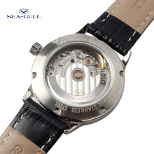 Load image into Gallery viewer, Seagull 3 Hands White Dial Exhibition Automatic Watch D101L