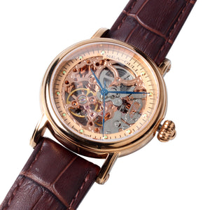 Seagull Double Skeleton M182SGK Rose Gold Automatic Watch