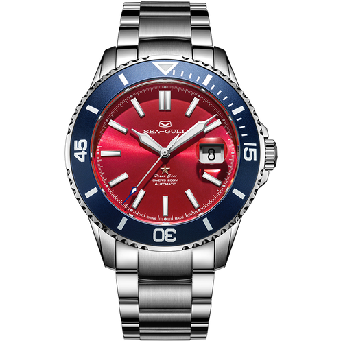 Seagull New Limited Edition Ocean Star Automatic Diving Watch Red Dial 816.52.1206