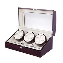 Load image into Gallery viewer, Watch Winder Box for 6 Automatic Watches With 5 Modes Control