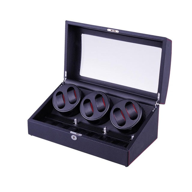 Watch Winder Box for 6 Automatic Watches With 5 Modes Control