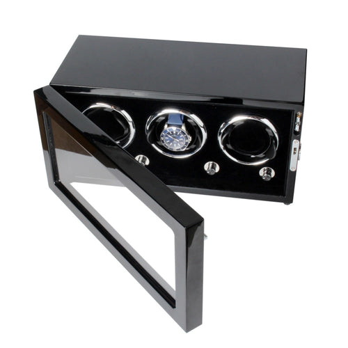 High-End Wood Mechanical Watch Winder Display Box
