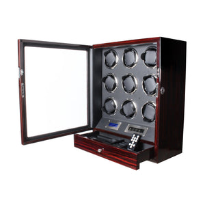 Ultra-Quiet Watch Winder Storage Box for 9 Automatic Watches
