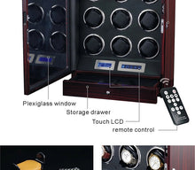 Load image into Gallery viewer, Ultra-Quiet Watch Winder Storage Box for 9 Automatic Watches