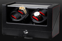 Load image into Gallery viewer, High-End Ultra Quiet Carbon Fiber Watch Winder for 4 Automatic Watches