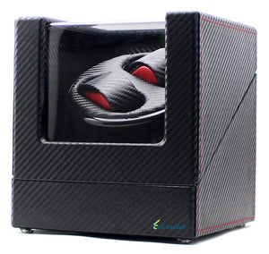 High-End Ultra Quiet Carbon Fiber Watch Winder for 2 Automatic Watches