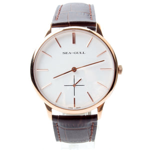 Seagull Ultra Thin 8mm Gold Tone Mechanical Watch D519.612 - seagull-watches