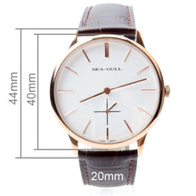 Load image into Gallery viewer, Seagull Ultra Thin 8mm Gold Tone Mechanical Watch D519.612 - seagull-watches