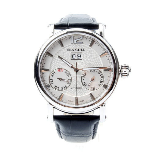 Seagull Full Calendar Grande Date Guilloche Automatic Watch 819.315 - seagull-watches