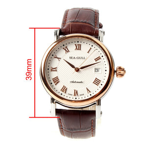 Seagull Roman Numerals Gold Tone Automatic Watch 219.365 - seagull-watches