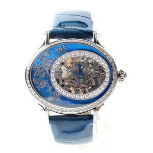 Seagull Classic Oval Shape Elegant Rhinestones Mechanical Watch 739.758L - seagull-watches